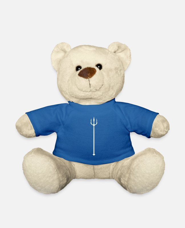 Neptune Teddy Bear Toys - Trident knows - Teddy Bear royal blue