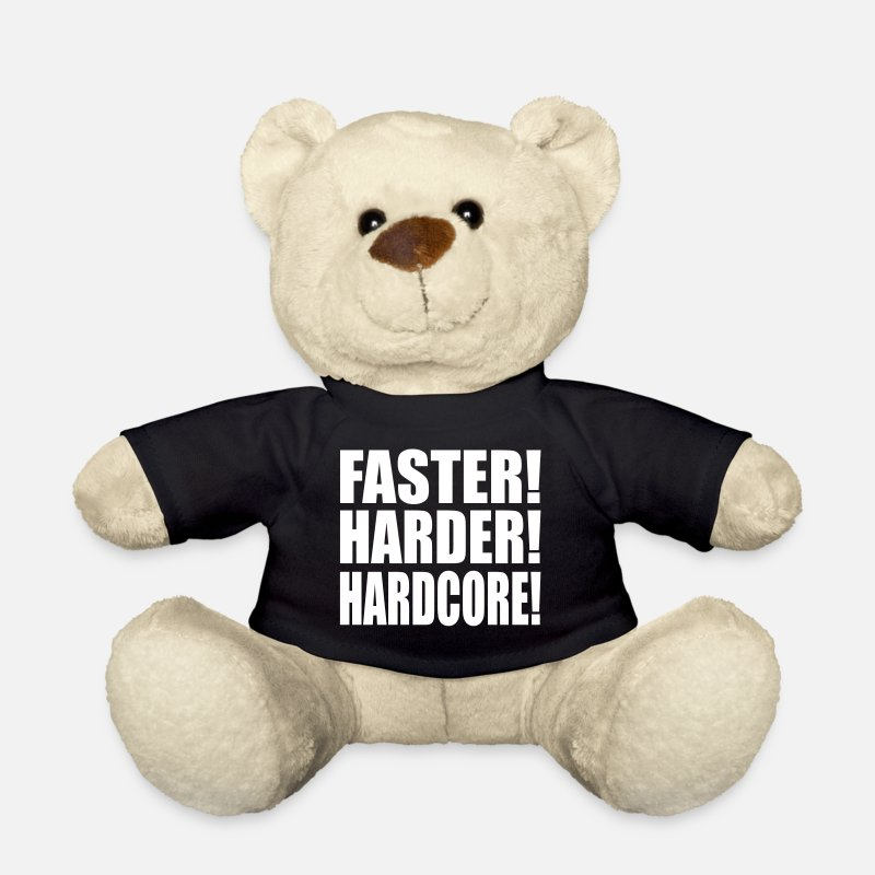 Hardstyle Peluches - Faster Harder Hardcore ES - Osito de peluche negro