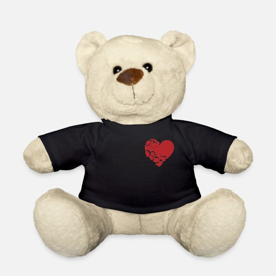 Heart Teddy Bear Toys - Broken heart - Teddy Bear black