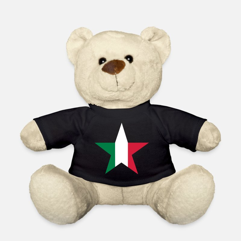 Italian Teddy Bear Toys - Italian star - Teddy Bear black