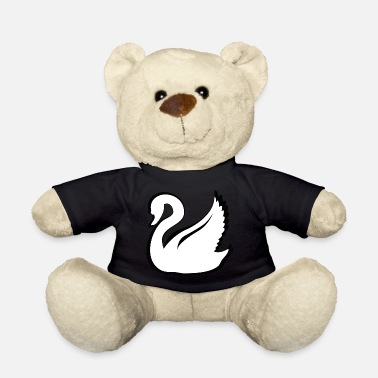Swan Lake Swan design black and white - Teddy Bear