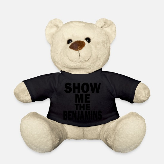 The Office Teddy Bear Toys - show me the benjamins - Teddy Bear black