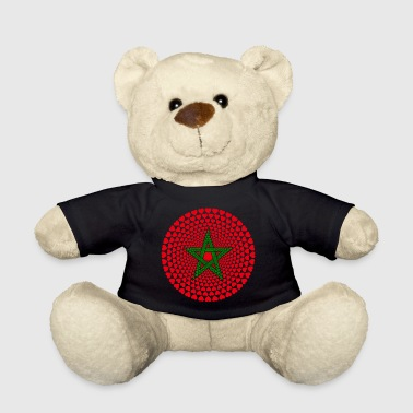 Morocco Morocco Morocco المغرب HEART Mandala - Teddy Bear