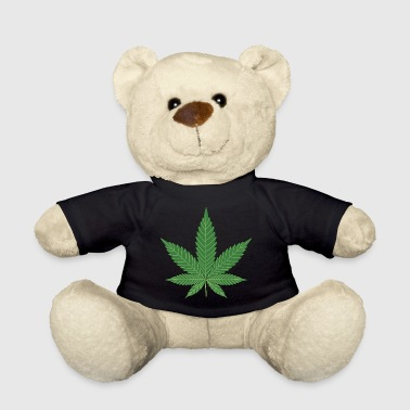 Green cannabis leaf - Teddy Bear