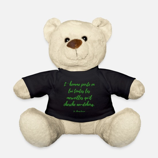 Citations Peluches - citation - Ours en peluche noir