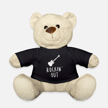 Rocking out guitar rock metal music gift idea - Teddy Bear
