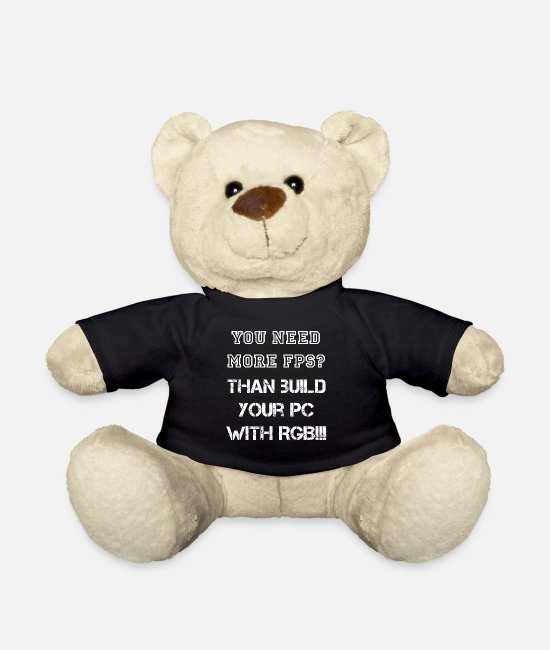 Game Teddy Bear Toys - Do you need more FPS? Than build your PC with RGB !!! - Teddy Bear black