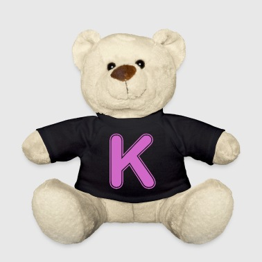 Alphabet - letter - K - Teddy Bear