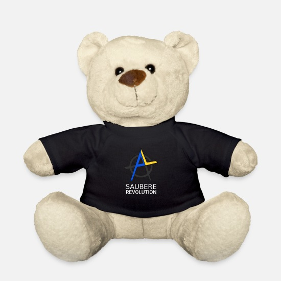 "Renewable Energy Teddy Bear Toys - ""Clean Revolution"" with PV - Renewable Energy! - Teddy Bear black"