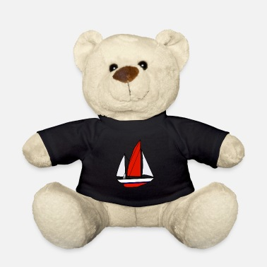 Saliboat Sailboat, sailing, sea, cartoon, gift idea - Teddy Bear