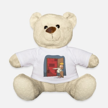 Hand Retreating Stay outside! Otherwise I will wall up! gift - Teddy Bear