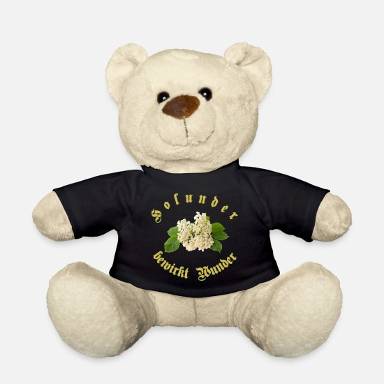 Bless You Teddy Bear Toys - elderberry causes miracles - Teddy Bear black