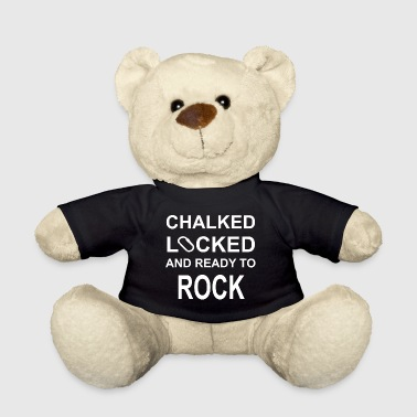 Chalked locked ready to rock - climbing, bouldering - Teddy Bear