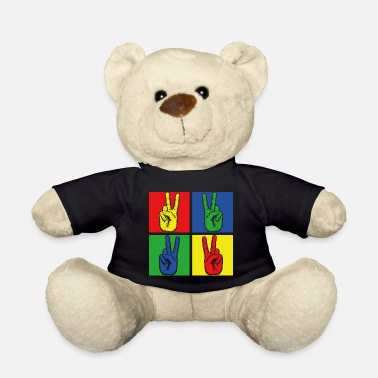 Hippie Movement Peace Hippie - Teddy Bear