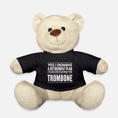 Club Music Trombone orchestra wind instrument music gift 1 - Teddy Bear