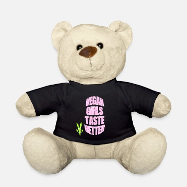 Key-button Vegan Girls taste better - Teddy Bear
