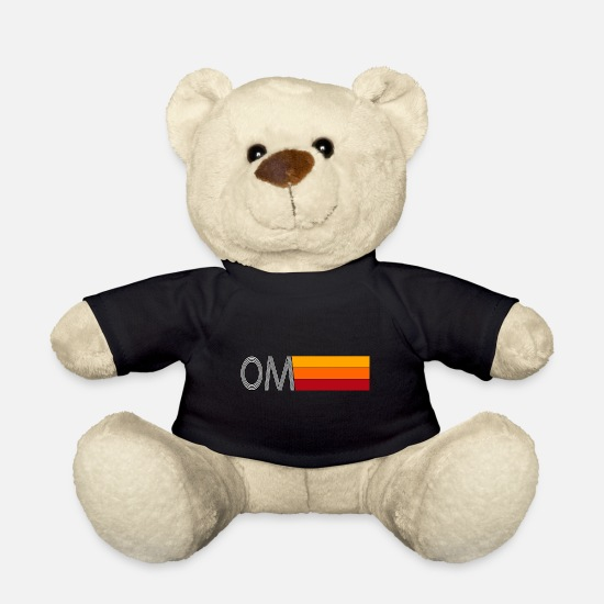 Yogi Teddy Bear Toys - OM Yoga - Teddy Bear black