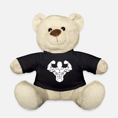 Lifting Bodybuilder Strong Man Toning Muscle Sport - Teddy Bear