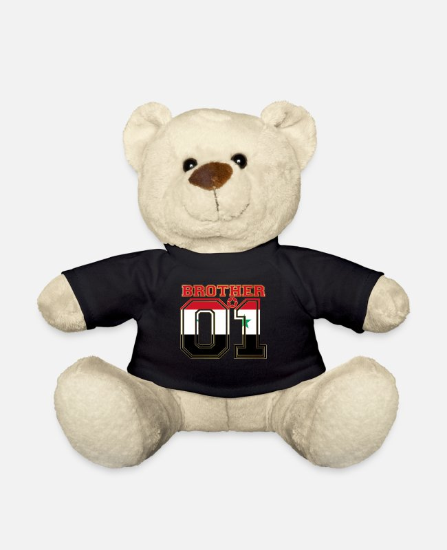 Root Teddy Bear Toys - brother brother brother 01 partner Syria - Teddy Bear black