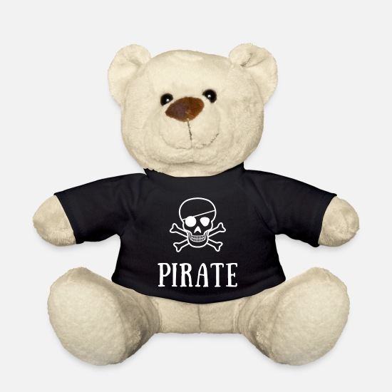 Fisherman Teddy Bear Toys - pirate skull - Teddy Bear black