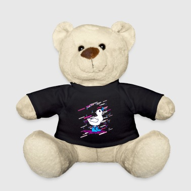 Rain duck 80s retro violet - Teddy Bear