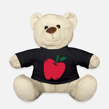 Vector de regalo saludable de manzana fruta niño nutrición - Osito de  peluche e02d183017d