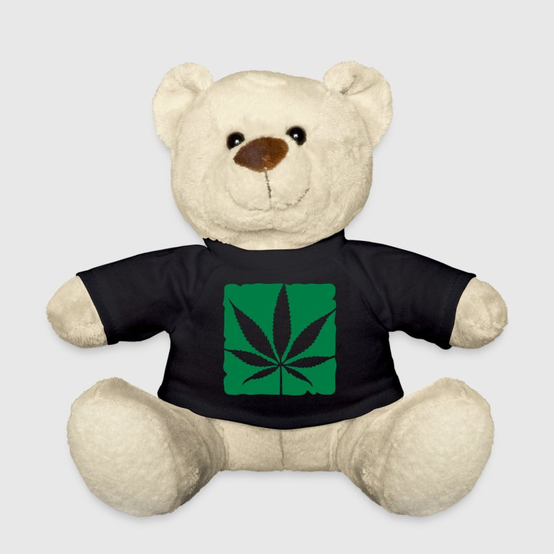 weed leaf boxed - Teddy Bear