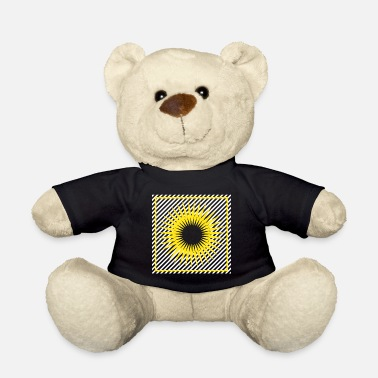 Bright Geometry stripes sun abstract square - Teddy Bear
