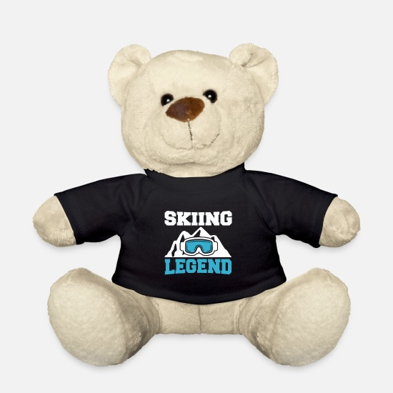 Ski Slope Teddy Bear Toys - Legend Skiing Gift Skiing Winter Vacation - Teddy Bear black