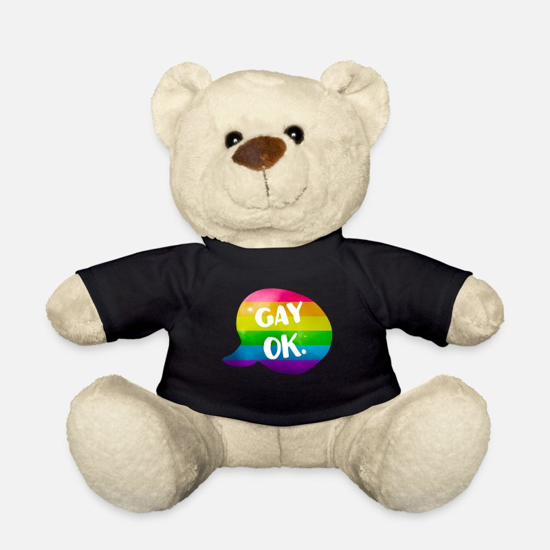 Bisexual Teddy Bear Toys - Gay Ok Rainbow LGBT - Teddy Bear black