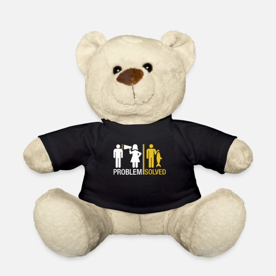 Fishing Top Teddy Bear Toys - Problem solved - Teddy Bear black
