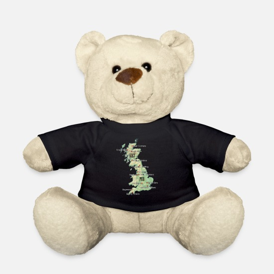 "Country Teddy Bear Toys - Uk ""Atlas"" - Teddy Bear black"