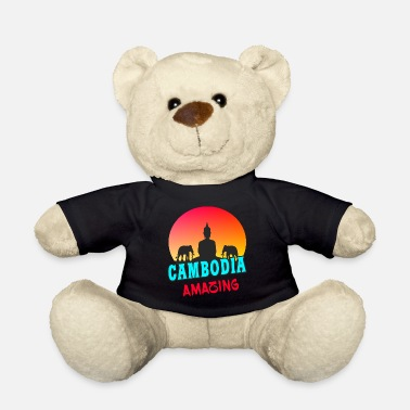 Southeast Asia Cambodia Sunset Southeast Asia Gift - Teddy Bear