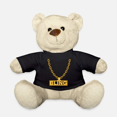 necklace bling ketting - Teddybeer