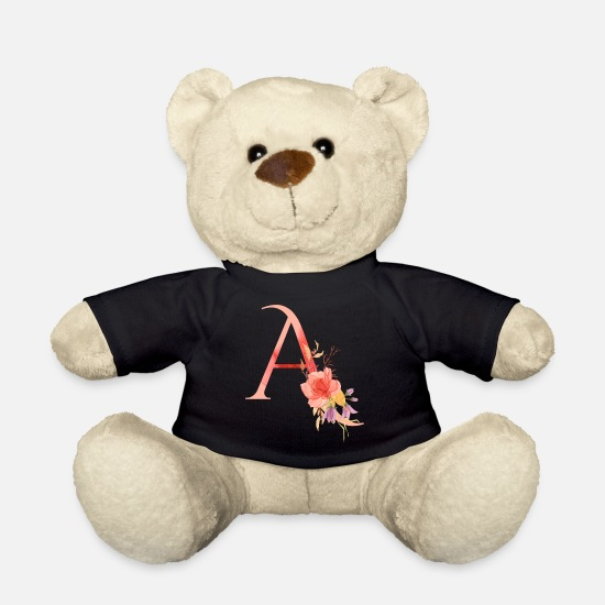 Birthday Teddy Bear Toys - Letter a - Teddy Bear black