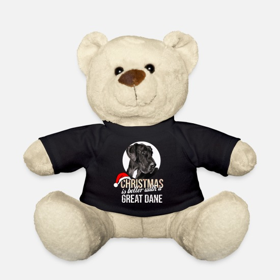 Dane Teddy Bear Toys - Great dane - Christmas is better with a Great Dane - Teddy Bear black
