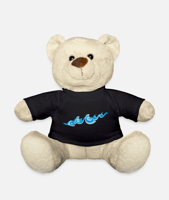 Wave Teddy Bear Toys - Waves 2C - Teddy Bear black