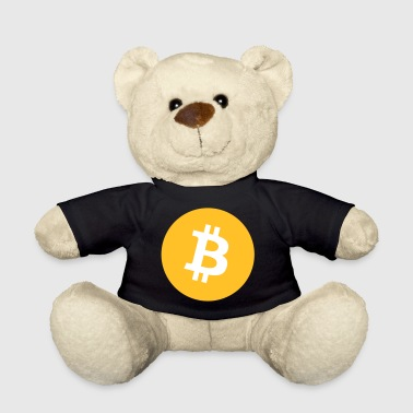 Bitcoin Logo Round Coin - Teddy Bear