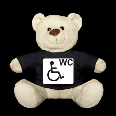 Wheelchair WC Fair Gift White - Teddy Bear