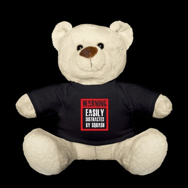 Squash Addicted gift for Squash Players - Teddy Bear