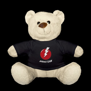 Blitz Name Shirt Superhero Superhero Sebastian - Teddy Bear