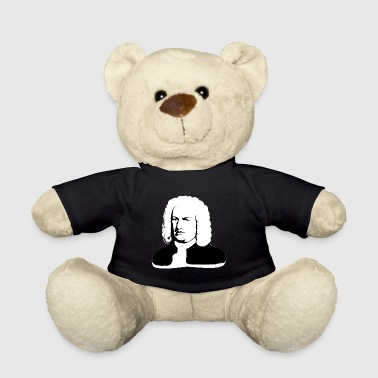 Johann Sebastian Bach abstract in black and white - Teddy Bear