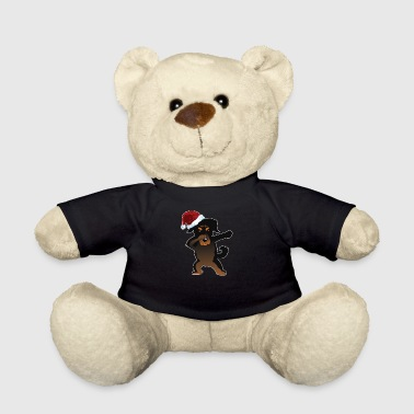 Cute Rottweiler Dabbing Christmas Shirt - Teddy Bear
