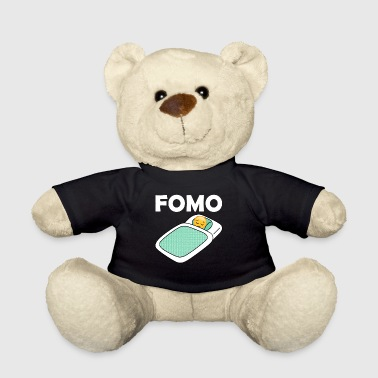Fomo Sad Emoji In Bed Fear Of Missing Out Graphic - Teddy Bear