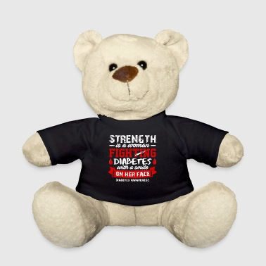 Strength Is A Woman Fighting Diabetes T-shirt - Teddy Bear