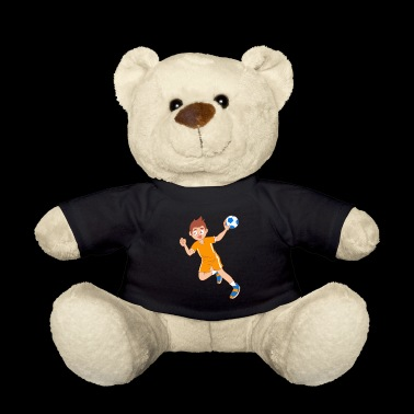 Boy handball cartoon throw gift idea - Teddy Bear