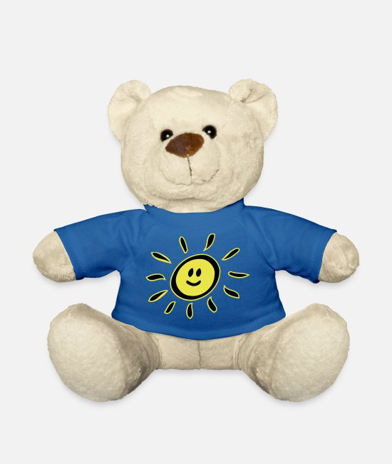 Not In The Mood Teddy Bear Toys - Smiley sun - Teddy Bear royal blue