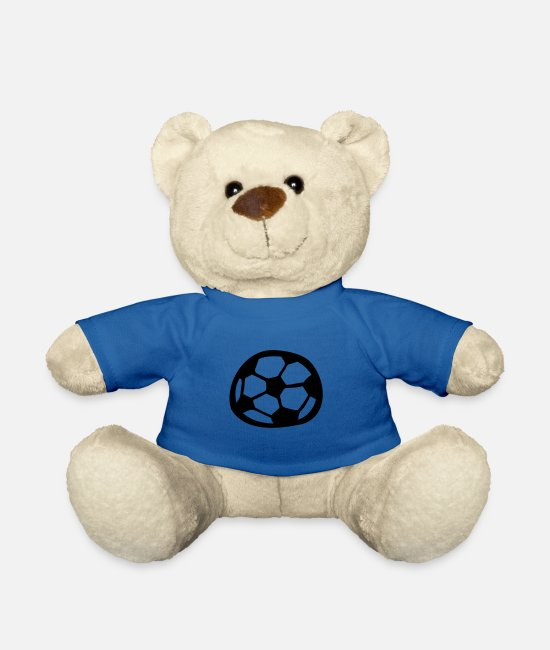 Comic Style Teddy Bear Toys - Soccer - Teddy Bear royal blue