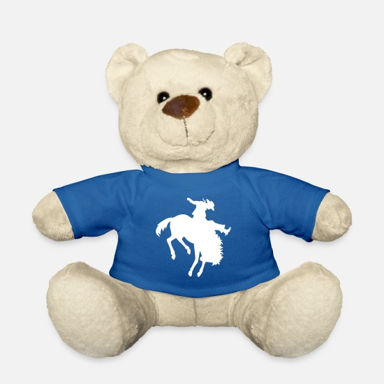 Symbol  Teddy Bear Toys - Riding Rodeo - Teddy Bear royal blue
