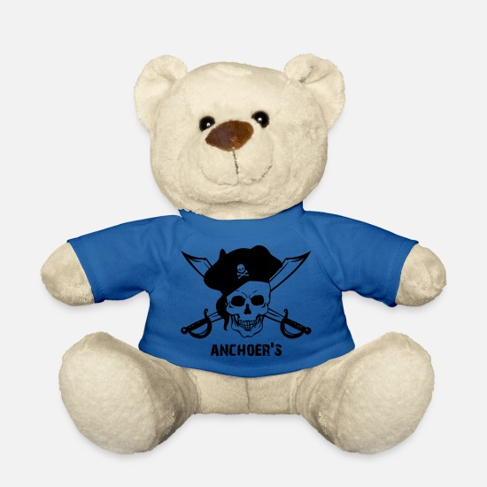 Ship Teddy Bear Toys - Pirate with saber, hat, skull - skull - pirate - Teddy Bear royal blue